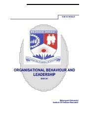 BMG381(old Code BCM381)_Organisation Behaviour & Leadership Module