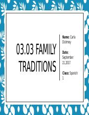 03.03 Family Traditions.pptx