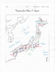 Japan Map Assignment