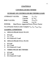 10 - 0 - ece4200 notes summaries ofcontrolled rectifiers loads