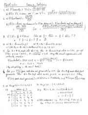 Exam 2 Solution on Probability