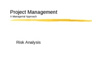 Risk Analysis-I