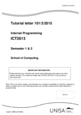 Tutorial Letter 101 (Both) for ICT2613