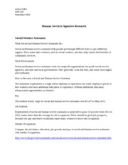 Human Services Agencies Research