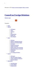Pakistan Relations Beyond National Security Concerns - Council on Foreign Relations