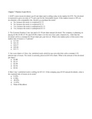 BusM 301 Chapter 7 Practice Exam REAL