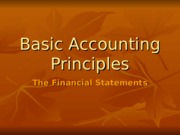 basic accounting principles
