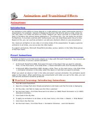 Animations and Transitional Effects.docx