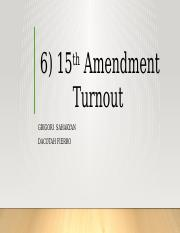 2016 15th Amendment Turnout 2