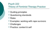 Theory of Feminist Therapy Practice