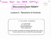 Lecture 4 on Organic Chemistry