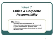 Week 7 Ethics