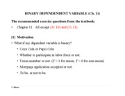 Ch. 11 Binary Dependent Variable