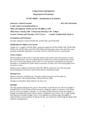 Econ-1000B-Kyeremeh_Course Outline Fall 2012-Winter 2013