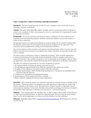 Research on Leadership Study