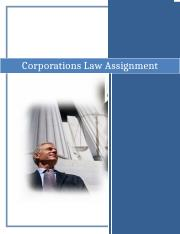 BULAW5915 - Corporation Law Assignment.docx
