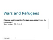 Wars and Refugees