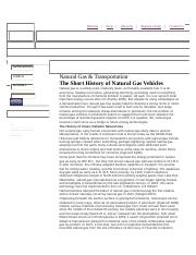 Natural Gas & Transportation The Short History of Natural Gas Vehicles.docx