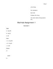 matlab homework solutions