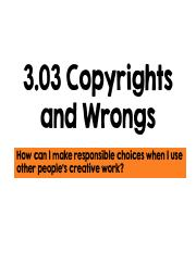 3.03 Copyrights and Wrongs