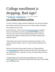 FIN_571_Week #5 Article_College enrollment is dropping- Article.docx