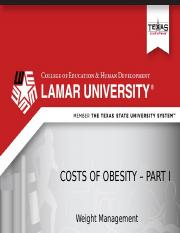 Lecture 1 - Costs of Obesity - Part 1 - NVO (1).pptx