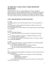 2010 ap bio essay answers