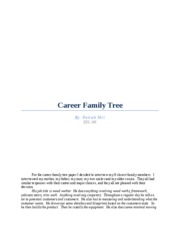 Career Family Tree