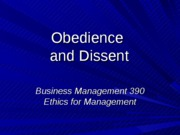 17 - Obedience and Dissent - blackboard