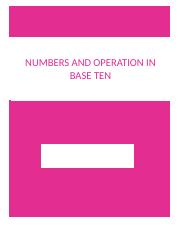 NUMBERS AND BASE TEN .docx