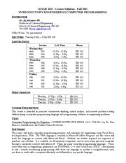 ENGR1412 Syllabus Fall 2011