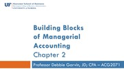 Building Blocks of Managerial Accounting, Cost