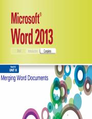 Word 2013 Illustrated Unit H.pptx