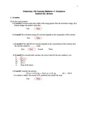 Sample Midterm Solutions 1