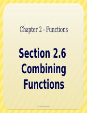 2.6 - Combining Functions
