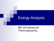 Exergy Analysis