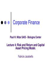 Lecture 4 - Risk and Return and CAPM Model.pdf