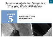 Chapter 5- Modeling System Requirements
