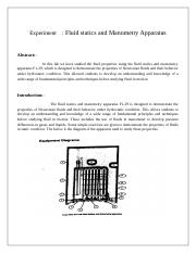 Fluid statics and manometry appratus.docx