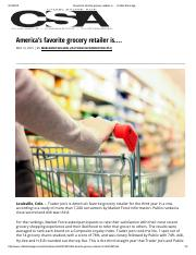 America's Favorite Grocery Retailer Is….ChainStoreAge.com-051315