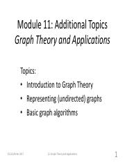 Module11 - Additional Topics Graph Theory and Applications.pdf