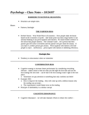 Class Notes - 10-24-07