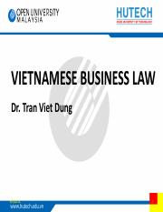 TVD - Vietnam business law - topic 3