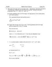 Midterm Solutions Spring 2011