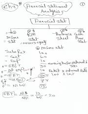 Financial statment 1