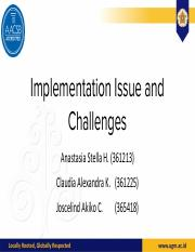 Implementation, Issue, and Challenge