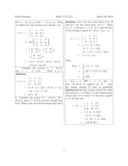 Math 1172 12.4 Solutions Sp 2014