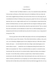 Close Reading -A Rose for Emily-