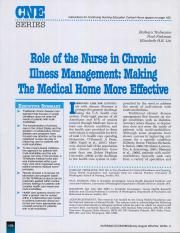 Chronic Illness Management - making the medical home more effective