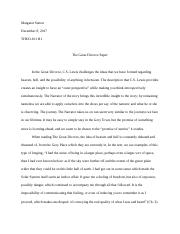 The Great Divorce Paper.docx